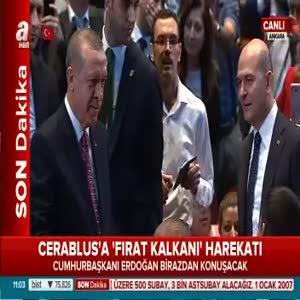 Cumhurbaşkanı Erdoğan birazdan konuşma yapacak