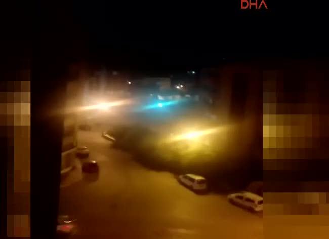 Van'daki çatışma anı kamerada
