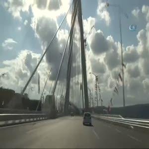 3. köprüde ilginç görüntü