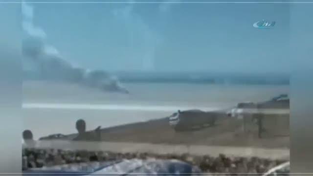 Gösteri uçağı düştü: Pilot hayatını kaybetti