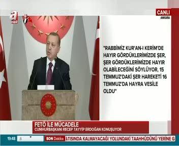 Cumhurbaşkanı Erdoğan şehit ve gazi yakınlarına hitap etti
