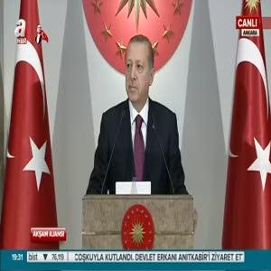 Cumhurbaşkanı Erdoğan şehit yakınları ve gazilere verdiği yemekte konuştu