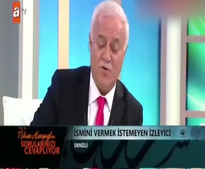 Nihat Hatipoğlu'nu şaşırtan soru