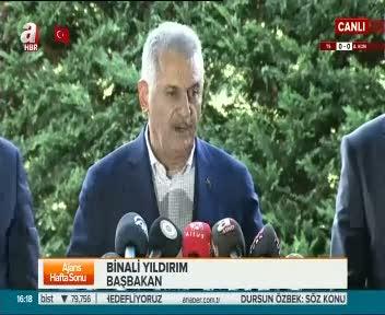 Başbakan Binali Yıldırım gazetecilerin sorularını cevapladı