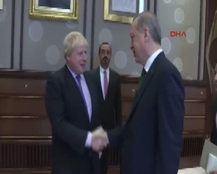 Cumhurbaşkanı Erdoğan, İngiltere Dışişleri Bakanı Johnson'u kabul etti
