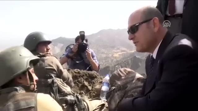 Süleyman Soylu Şırnak'ta 6 askerin şehit düştüğü bölgede