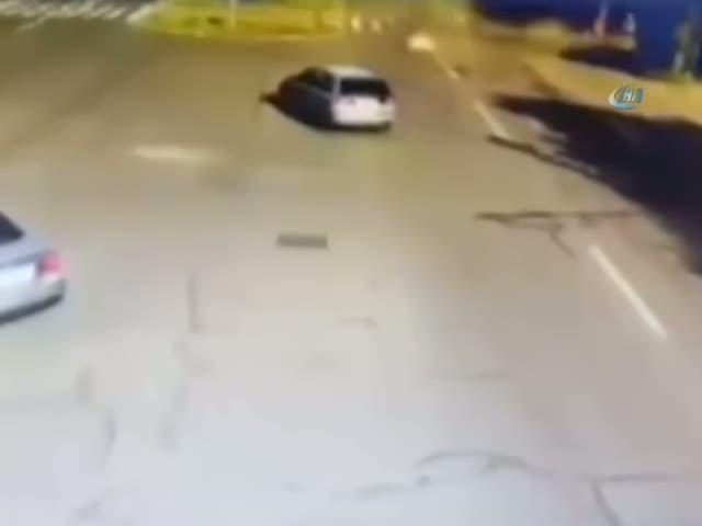 Ölümlü kaza kamerada