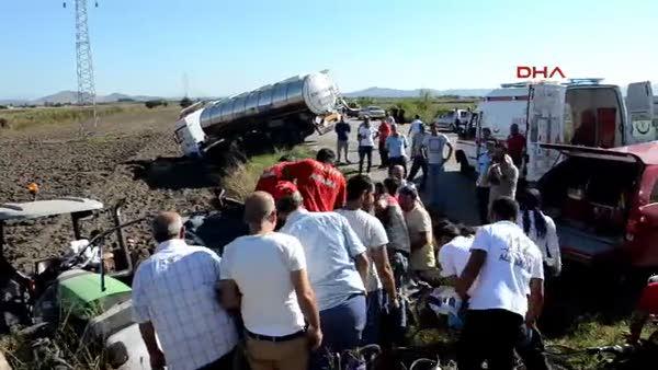 Otomobil ile tanker çarpıştı: 1 ölü, 1 yaralı
