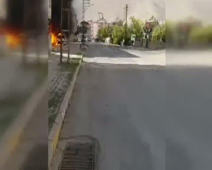 Alevler, iş yerini ve otomobili küle çevirdi