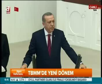 Cumhurbaşkanı Erdoğan TBMMaçılışında genel kurula hitap etti