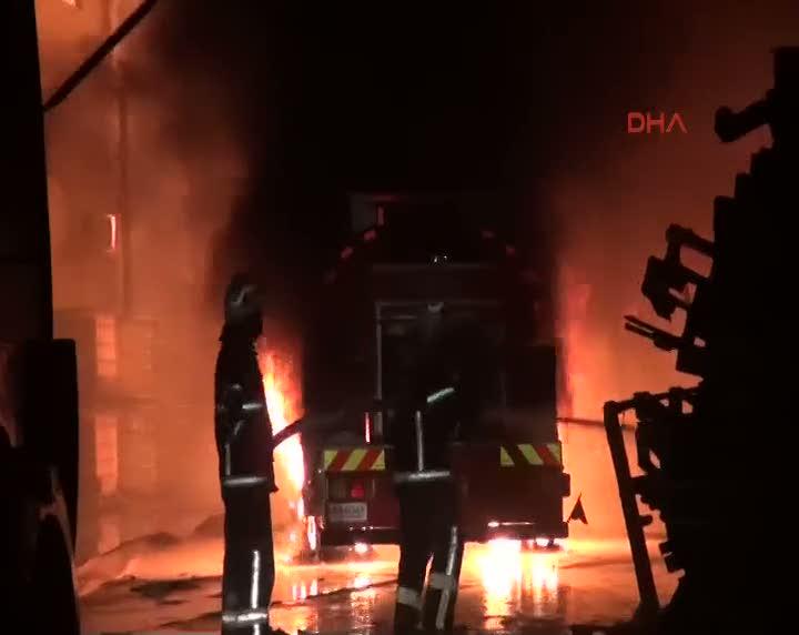 Gaziantep'te fabrika yangın yaralılar var