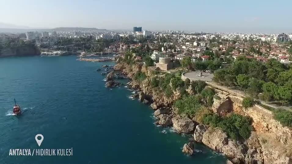 Antalya Hıdırlık Kulesi drone çekimi