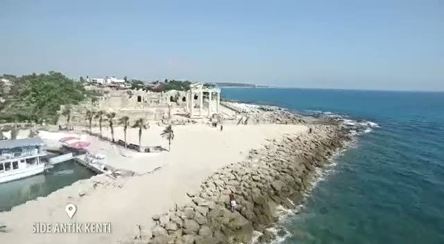 Side Antik Kenti drone görüntüleri