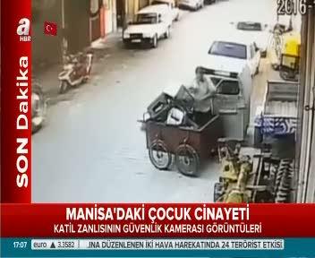 Katilin Minik Irmak'ın cesedini taşıma anı güvenlik kamerasında