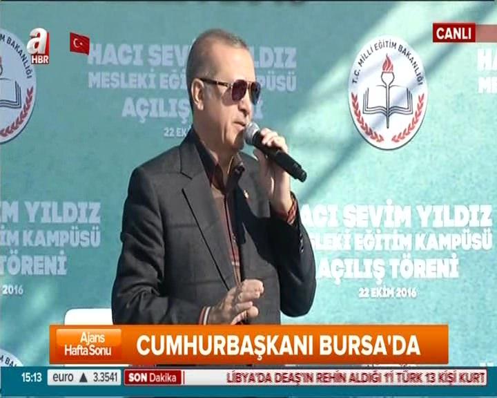 """Cumhurbaşkanı Erdoğan """"FETÖ çapulcularına sokakları dar ettiniz"""""""