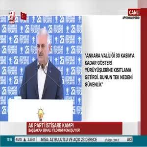 """Başbakan Yıldırım """"AK Parti cumhuriyeti büyüttükçe hasımaları darbeleri büyüttü"""""""
