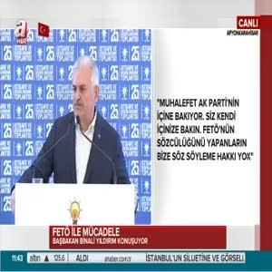 """Başbakan Yıldırım """"CHP'nin FETÖ ile sandık başlarını nasıl tuttuklarını unutmadık"""""""