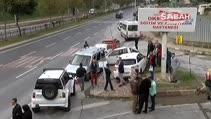 Hastane önünde zincirleme kaza