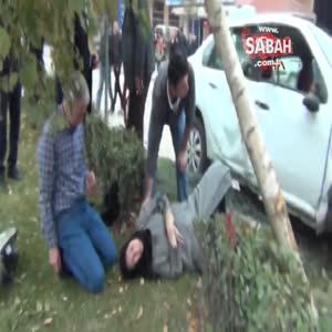 Bursa Kazada yaralanan eşinin başından ayrılmadı
