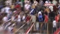 Guarani-Sportivo Patria maçında taraftarlar arasında büyük kavga