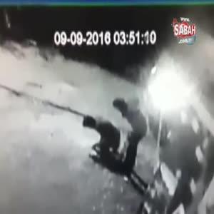 Kablo hırsızları kamerada