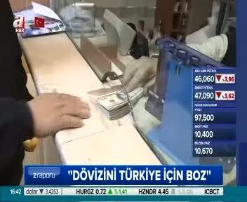 Türk halkı parasına sahip çıkıyor