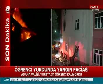 Öğrenci yurdunda yangın faciası