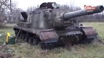 Onlarca yıl sonra bile hala çalışan ISU-152 tank avcısı