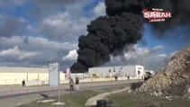 Kocaeli Dilovasındaki fabrikaya ait depoda yangın çıktı