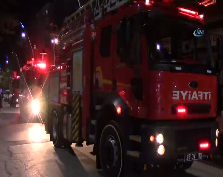 Elazığ'da iş yeri yangını: 1 yaralı