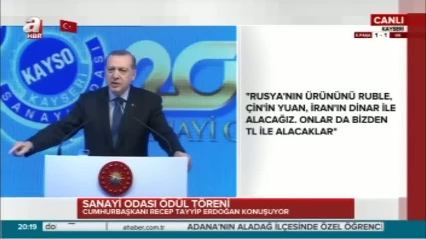 Cumhurbaşkanı Erdoğan''Faiz oranlarını düşürelim''