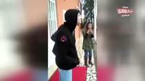 Otizmli öğrencisini mutlu etmek için okula kamyon getirdi