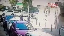 Güvenlik kamerasına yansıyan feci kazada kahreden gerçek