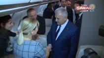 Başbakan Yıldırım basın mensuplarına uçakta açıklamalarda bulundu