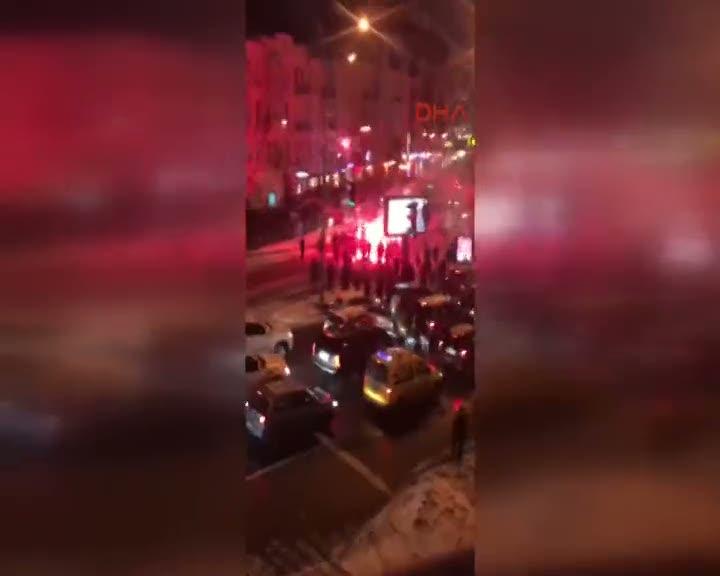 Kiev'de Beşiktaşlı taraftarlar saldırıya uğradı