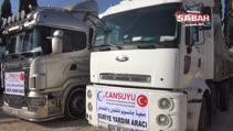 Halep'e 52 ton un yardımı