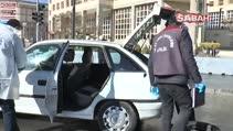 Çalıntı araç trafikte alev aldı, hırsız bırakıp kaçtı