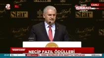 Başbakan Binali Yıldırım Necip Fazıl Ödül Töreni'nde konuştu