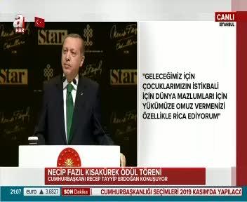 Cumhurbaşkanı Erdoğan Mustafa Kutlu'nun cümleriyle seslendi