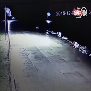 Bartın'da güvenlik kamerasına yansıyan esrarengiz olay çözülemiyor!