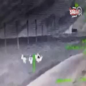 Teröristlerle sıcak temas termal kamerada