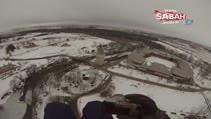 Karlar altında Edirne havadan böyle görüntülendi