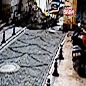 Polis memuru yıkılan tarihi binanın altında kalmaktan son anda böyle kurtuldu