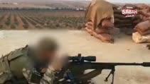 Askerimiz El Bab'ta keskin nişancı tüfeği ile böyle atış yapıyor!