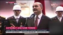 Son dakika Haber: Bakan Soylu konuşurken arkasındaki asker canlı yayında bayıldı!