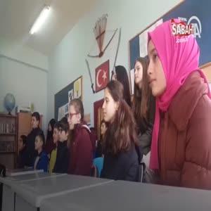 Öğrencilerden şehit polis Sekin için dombralı klip