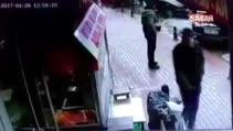 Otopark görevlisinin vurulma anı kamerada