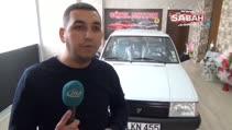 1994 model beyaz Tofaş Şahin otomobil görenleri hayran bırakıyor