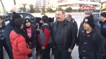 Adana Emniyetinden şehit ve gazi çocuklarına kar sürprizi