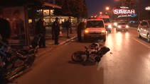 Motosiklet otobüs durağına daldı: 5 yaralı